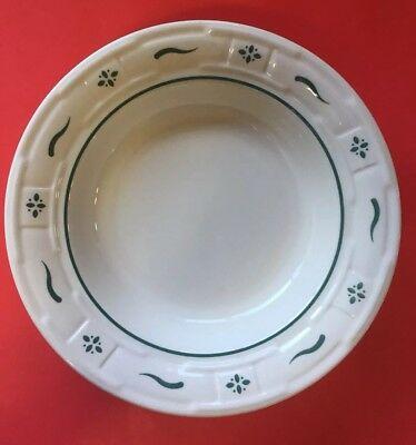 Longaberger Pottery Salad Soup Bowl Heritage Green Plate 8""