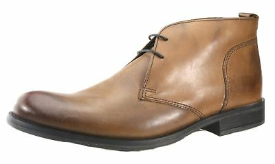 Base London Teak Tan Brown Lace Up Chelsea, Ankle Boots Chukka Leather Mens