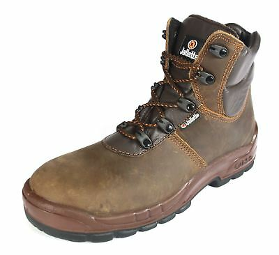Jallatte Jalloki - 00J0684 Brown Lace Up Safety Leather Work Toecap Boots
