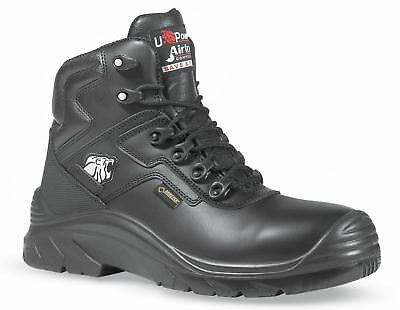 U-Power Drop GTX Black Lace Up Safety Leather Work Gore-Tex Toecap Boots