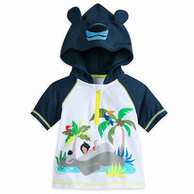 """Disney Store """"jungle Book"""" Swim Hooded Guard Shirt For Baby-3-6 Months Nwt"""