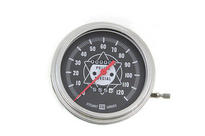 Speedometer with 2:1 Ratio and White Needle for Harley Flathead Knucklehead Pan