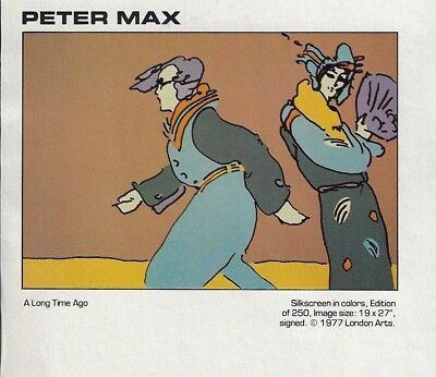 1978 Peter Max Art Graphic A Long Time Ago New Editions Print Ad