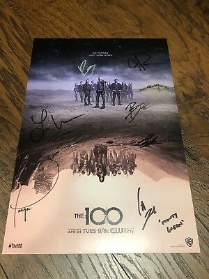Wondercon 2018 Cast Signing The 100 - WB - Signed LE 100 Posters