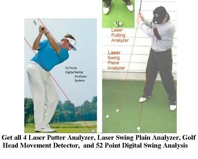 Golf Instruction 3 Lasers Putting Swing Plane Head Position Chk