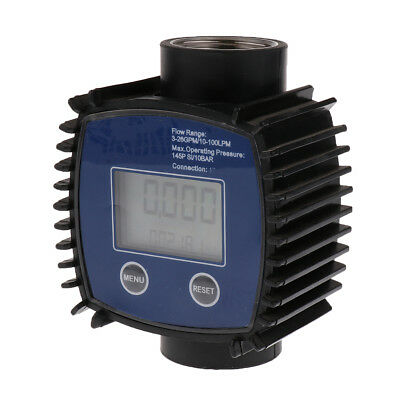 LCD Turbine Digital Flow Meter for Diesel Fuel Oil Urea Chemical Liquid 1""