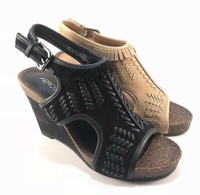 Aerosoles Waterfront Suede Leather Wedge Sandals Choose Sz/Color