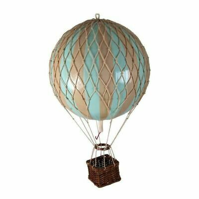"Hot Air Balloon Model  Mint Striped 22"" Hanging Ceiling Home Decor"