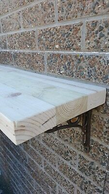 Floating Shelf New Wooden Wall Mounted Rustic Vintage Reclaimed Chunky Handmade