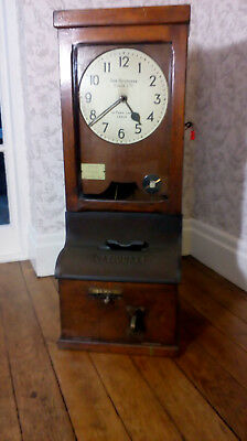 "Vintage Time Keeping Clock, Antique ""Clocking In Clock"""