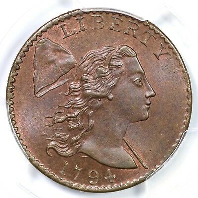 1794 S-26 R-2 PCGS MS 66 RB CAC Head of 94 Liberty Cap Large Cent Coin 1c