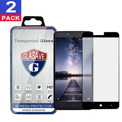 (2 Pack) GLASAVE ZTE Z981 ZMAX PRO FULL COVER Tempered Glass Screen Protector