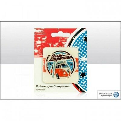 VW Classic Campervan Glass Fridge Magnet Officially Licensed By Volkswagen