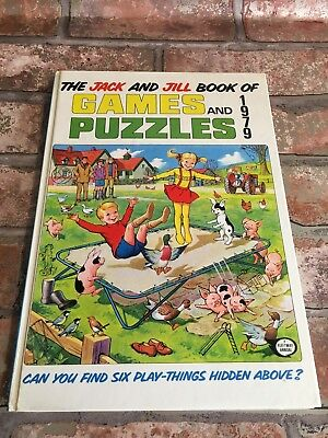 Vintage Jack and Jill Book of Games and Puzzles Annual 1979 Children's TBLO