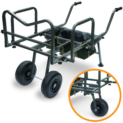 New Dynamic Carp Fishing Barrow With Storage Bag Double or Single Wheel Trolley