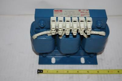 MTE CORP. # RL-02502  AC Line Reactor 3Ph 600V 1.20mH  25Amps  50/60 Hz
