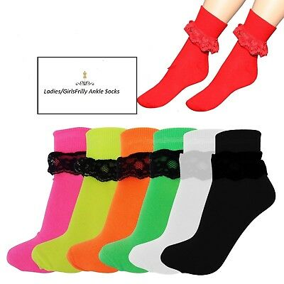 New Ladies/Girls  Frilly Ankle Socks