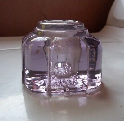Vintage Antique Glass Inkwell Amethyst Glass Purple