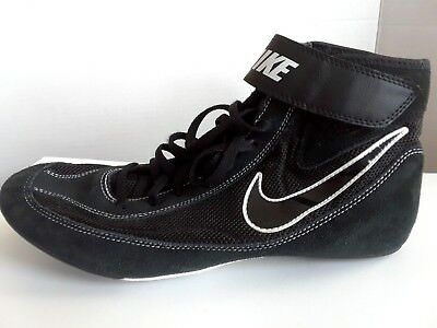 NIKE Speed Sweep VII Wrestling Shoes Mens 12 Black Suede Leather