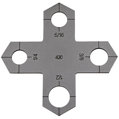 Holey Cross Plasma Stencil - Bolt Hole Circle Plasma Cutter Guide Template