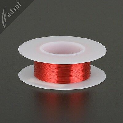 34 AWG Gauge Magnet Wire Red 494' 155C Solderable Enameled Copper Coil Winding
