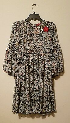 4d9925decb9 NWOT Anthropologie Bhanuni by Jyoti Libra Embroidered Floral Tunic Dress sz  0