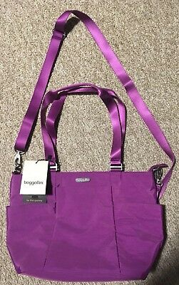 Baggallini Avenue Tote Medium Purple with Matching Cosmetic Case Purse NWT