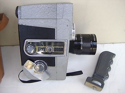 Revere EYE-MATIC Pistol Grip Cine Zoom 8mm Movie Camera Wollensak Lens Orig CASE