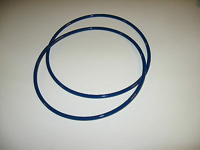 2 Blue Max Round Drive Belts For Grizzly G5957 Wood Lathe - Made In Usa