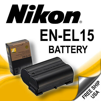 NEW EN-EL15 Battery For Nikon D7000 D7100 D7200 D600 D610 D750 D800 MH-25 MB-D15
