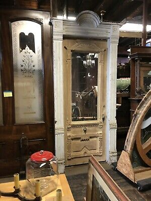 Antique Victorian Entry Door And Surround. Fancy Farm House Door 8' THE BEST