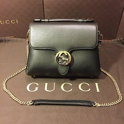 bf9982d1d24 GUCCI INTERLOCKING GG Top Handle Bag With Removable Shoulder Chain ...