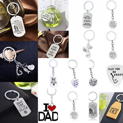 Gift For Daddy Dad Keyring Keychain Charm Jewelry Love Family Father's Day Gift