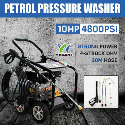 WACWAGNER 4800PSI 10HP High Pressure Petrol Washer Water Cleaner Gurney Hose 20M