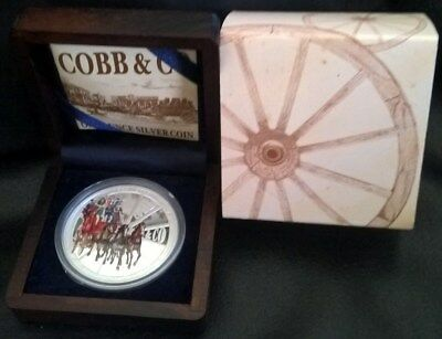 2004 One Dollar Silver Proof - *cobb & Co* - 1 Oz Silver - Perth Mint