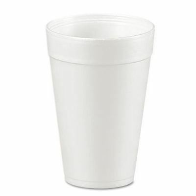 DART Foam Drink Cups, 32oz, White, 25/bag, 20 Bags/carton