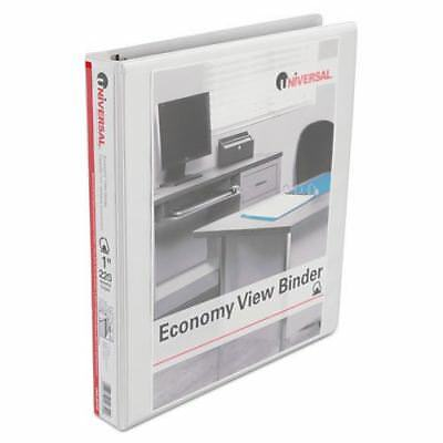 """UNIVERSAL OFFICE PRODUCTS Slant-Ring Economy View Binder, 1"""" Capacity, White, 4"""