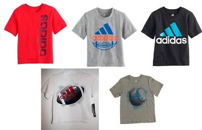 Adidas Little Boys Athletic Sports Tee Shirt Pick Size Color & Style NWT