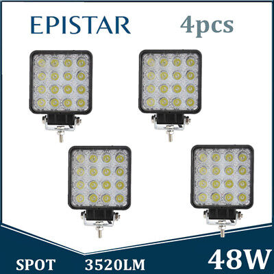 4X 48W 12V 24V LED Work Light Spot Light OffRoad ATV SUV Boat Jeep Truck Vehicle