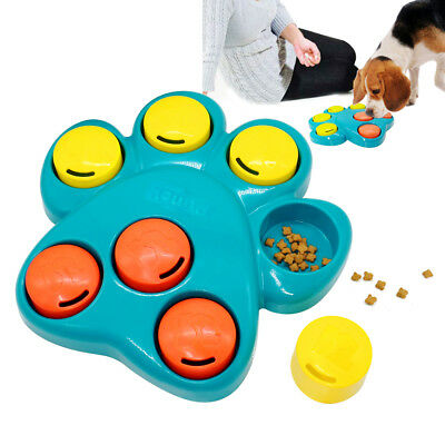 Dog Puzzle Toys Treat Dispensing Boredom Interactive Puppy Food Training Toy Paw