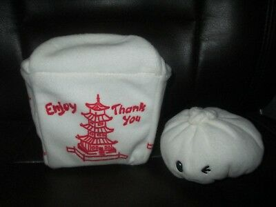 """BarkMade Chinese Take Out Box Plush Asian Food Container 13"""""""