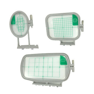 3x Embroidery Hoops Frame Set w/ Grid for Brother Embroidery Machine SE350