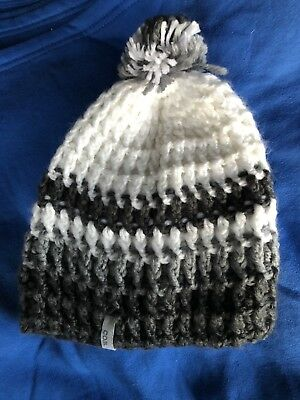 8aebe9df10 COAL WINTER HAT   Beanie   Knit   Grey And White With Ball On Top ...