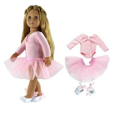 Ballet Dance Outfit Clothes Set Fit 18'' American Girl Our Generation Doll