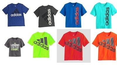 Adidas Little Boys Athletic Sports Tee Shirts NWT Size 4, 5, 6, 7