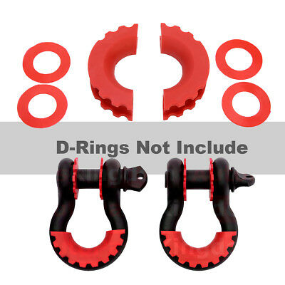 """1 Pair Isolator Washers 3/4"""" Shackle for D Ring Shackle Cover Jeep SUV Tools"""
