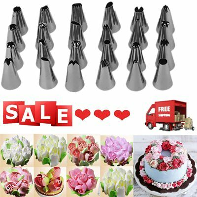 Cake Decorating Starter Kit 24 Pcs Tips Tools Set Piping Nozzles