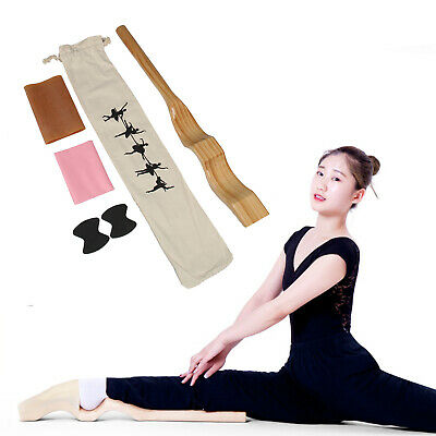 Wooden Ballet Foot Stretch Stretcher Arch Enhancer Elastic Band Dance Gifts