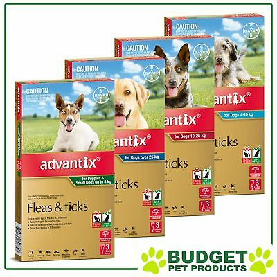 Advantix For Dogs Topical Spot-On Flea & Tick Treatment 3 Pack