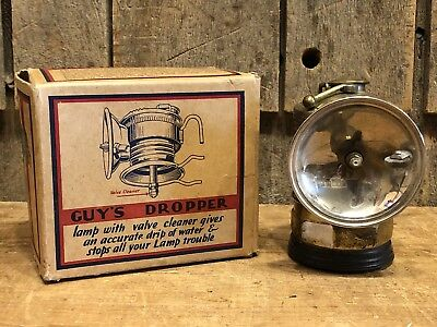 Vintage 1920's GUY'S DROPPER PIT Miners Dropper LAMP With Original Box NOS